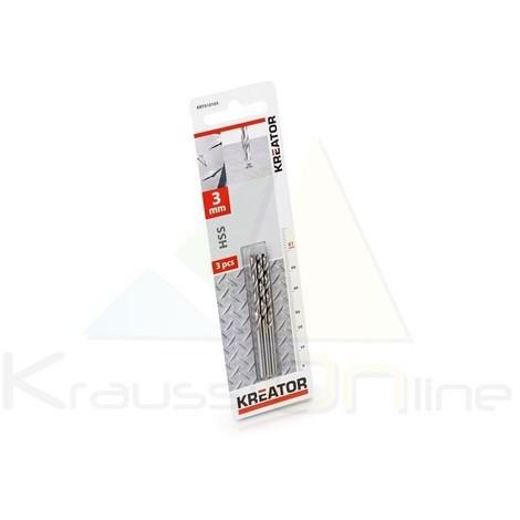 3 uds. Brocas/metal, hss 3x61 mm (KRT010105)