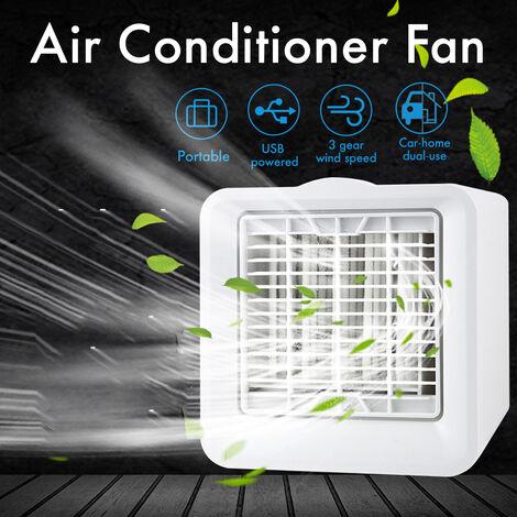 3 vitesses 5W Mini climatiseur refroidisseur ventilateur de refroidissement par glace filtre réfrigérant PM2.5 substances nocives