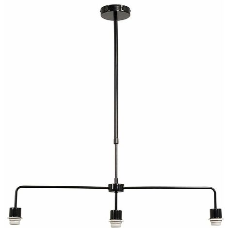 3 Way Black Rise & Fall Suspended Over Table Ceiling Light Fitting