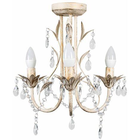 3 Way Chandelier with Acrylic Jewel Beads