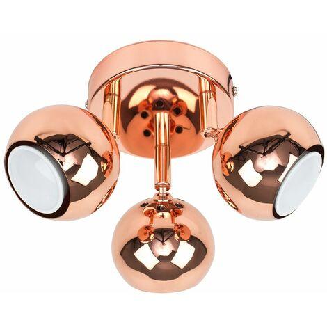 3 Way Spotlight Adjustable Ceiling Light - Copper
