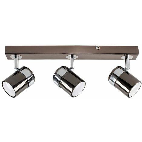 3 Way Straight Bar Adjustable Spotlight Spot Light Bedroom Kitchen Chrome