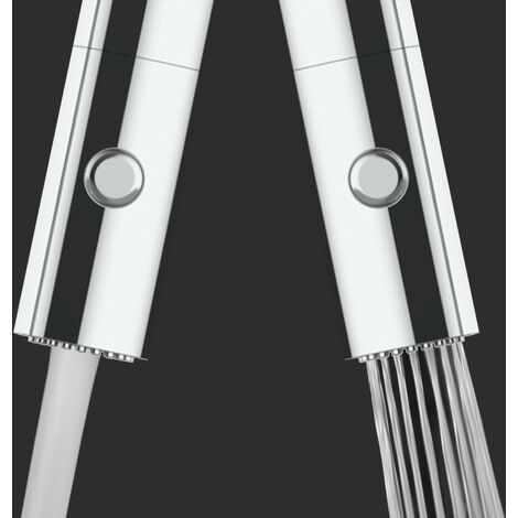 3 Wege Wasserhahn Kueche Spueltischarmatur chrom schwarz matt Kuechenarmatur mit hellblau 360 schwenkbarem Auslauf und abnehmbare 2 strahl Handbrause - BOD Design