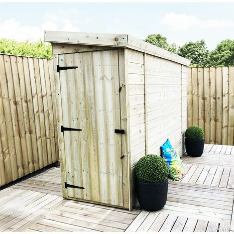 3 x 10 Windowless Pressure Treated Tongue And Groove Pent Shed With Single Door