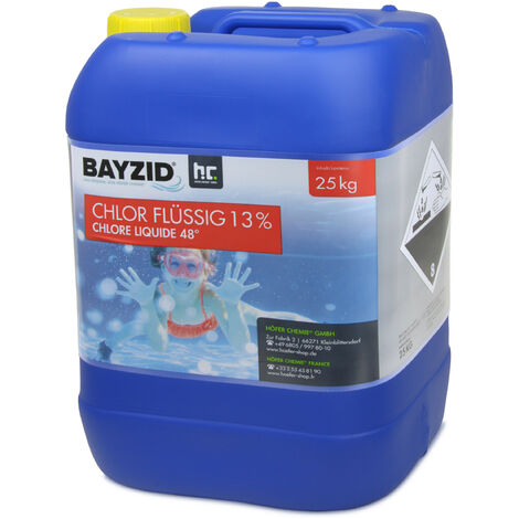 3 x 25 kg 25 Kg (20 L) Bayzid® Chlore liquide 48°