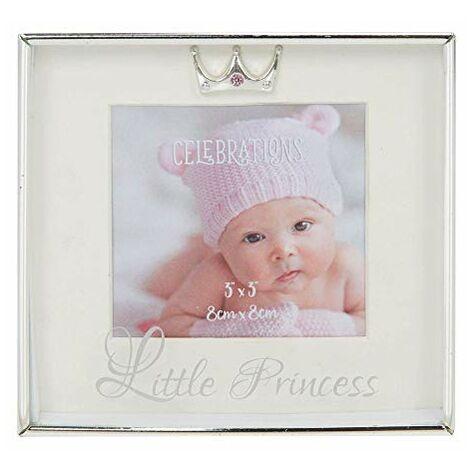 "3"" x 3"" - Silver Plated Box Frame - Little Princess"
