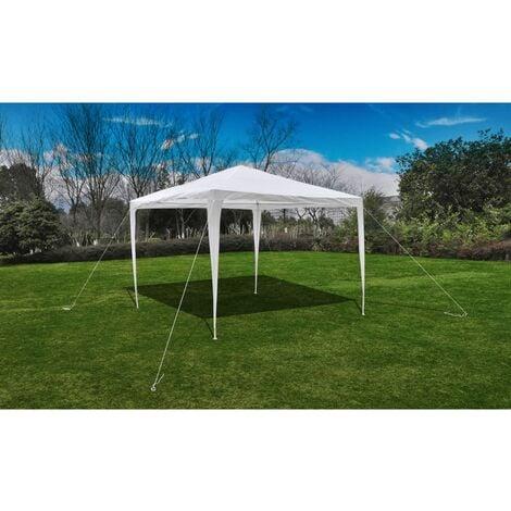3 x 3m Pyramid-Roof Garden Gazebo Pavilion - White