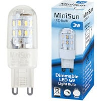 3 x 3w High Power Energy Saving Dimmable G9 LED Light Bulbs - 280 Lumens - 6000K Cool White