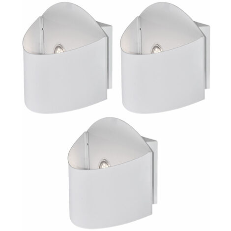 3 x applique DEL 5 watts projecteur façade lampe LED luminaire mural jadin terrasse