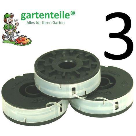 3 x Bobine Convient pour Einhell BG et 5030 Coupe-bordure électrique – Double Fil Bobine pour coupe-bordures électrique