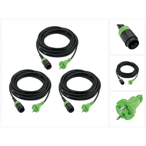 3 x Festool Plug it Kabel H 05 RN-F 2x1 4m 240 V ( 499851 )