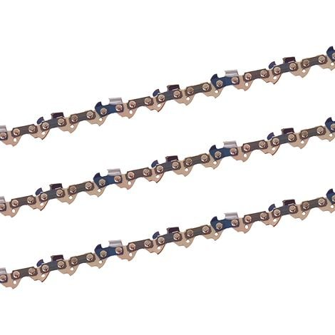 3 x gardexx chaîne de scie pour aldi, lidl, top craft batterie scie à branche télescopique