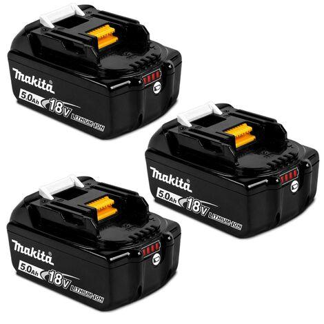3 X Genuine Makita BL1850 18V 5.0Ah Li-Ion LXT Battery 5AH Star Battery BL1850B