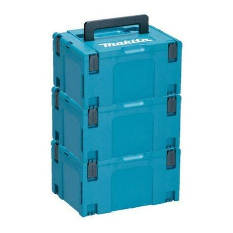 3 x Makita MAKPAC Stacking Connector Tool Case Systainer TYPE 3 396 X 296 X 210