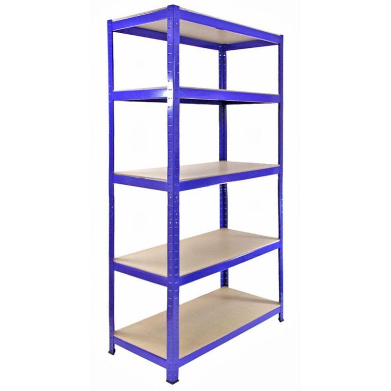 Image of 3 x Monster Racking T-Rax Metal Storage Shelves, Blue, 90cm W, 45cm D