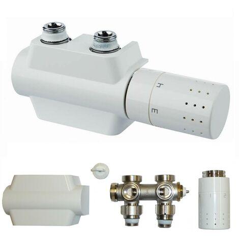 3 x Multi Bloc BUDERUS universel Logafix Design Robinet radiateur de salle de bain d'angle