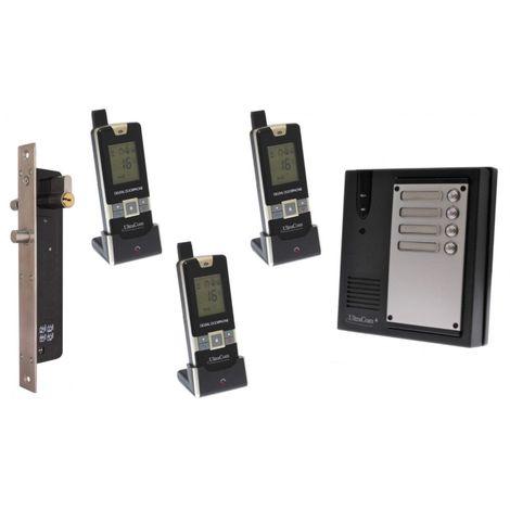 3 x Property 600 metre Wireless UltraCom4 Intercom with Electronic Door Latch