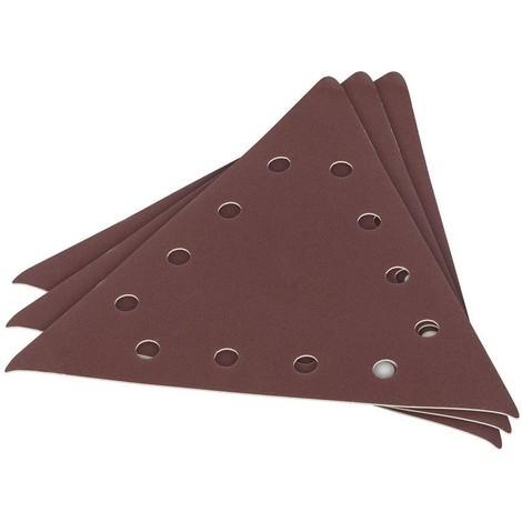 3 X Schleifpapier für Trockenbauschleifer G100 285 mm dreieckig