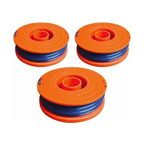3 x Spool And Line Fits Flymo Revolution 2000 Single Line Strimmer Trimmer