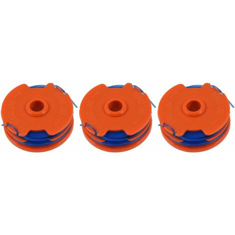 3 x Spool & Line For Qualcast GGT4502 & GGT600A1 Strimmers 5 Metre