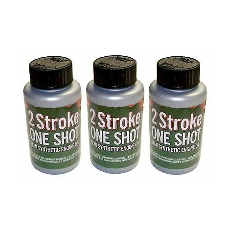 3 x Two (2) Stroke Oil One Shot Bottles 50:1 Mix Ideal