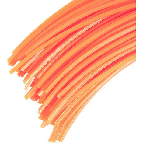 30 Brins 3 mm X 35 cm de fil professionnel carré pour débroussailleuse