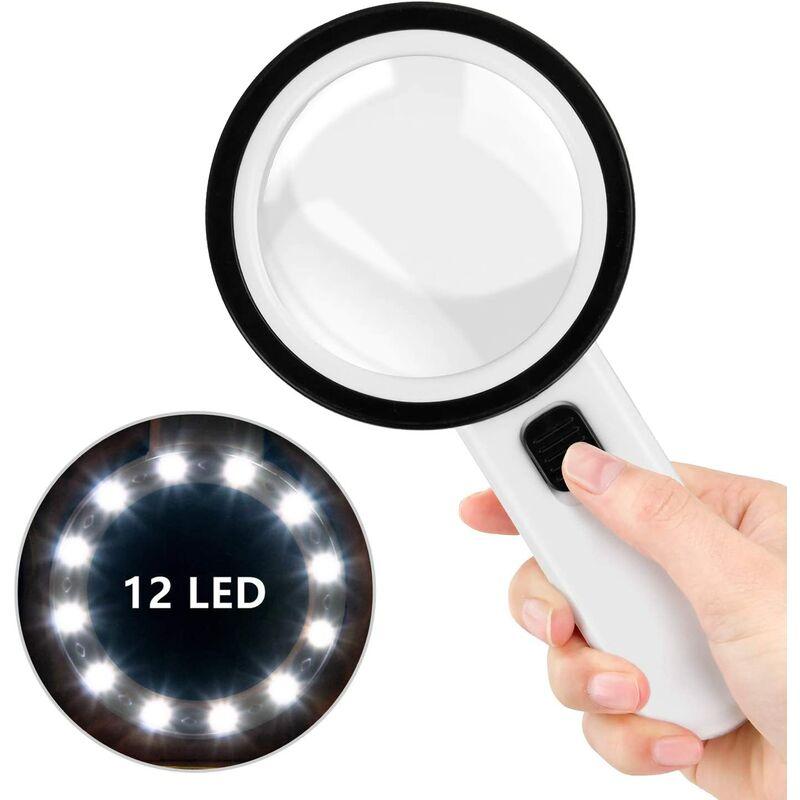 Perle rare 30 fois la lumière LED loupe portative 100 MM