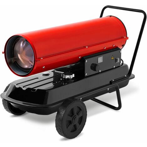 30 kW Direkt-Ölheizgebläse (Fahrgestell, Überhitzungsschutz, elektronische Flammensicherung, integriertes Thermostat) Heizkanone Bauheizer Heizlüfter