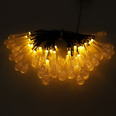 30 Lámparas de luces solares Decoración de jardín al aire libre Impermeable