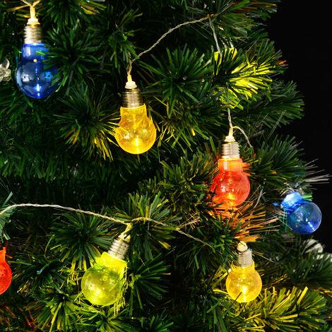 30-LED 6.1m LED Bulb String Fairy Lights Christmas Xmas Decor Colorful World
