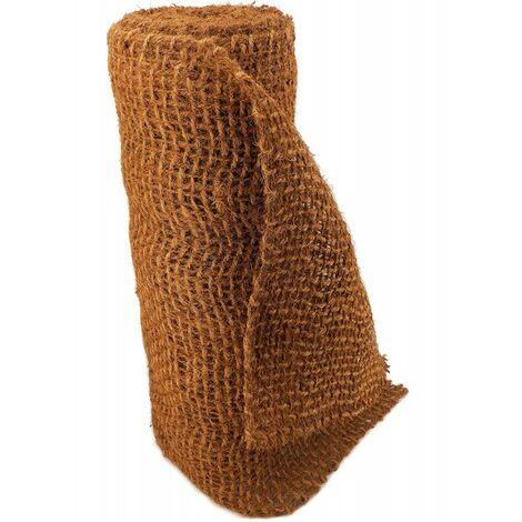 30 m filet anti-érosion en fibre de coco 1 m de large, film pour bassin de jardin, natte en fibre de coco 750 g
