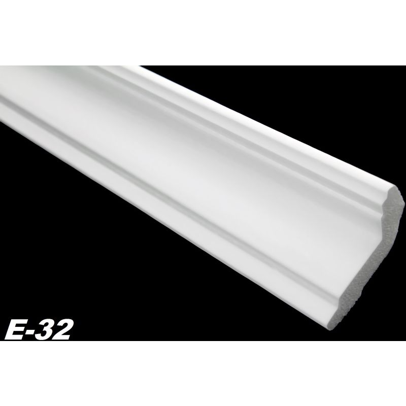 4 Ecken Zierprofile Eckleisten Polystyrol Stuck hart 28x51mm 20 Meter E-32