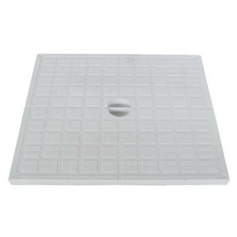 30 par 30 cm couvercle piéton plein pour regard évacuation PVC. plat.