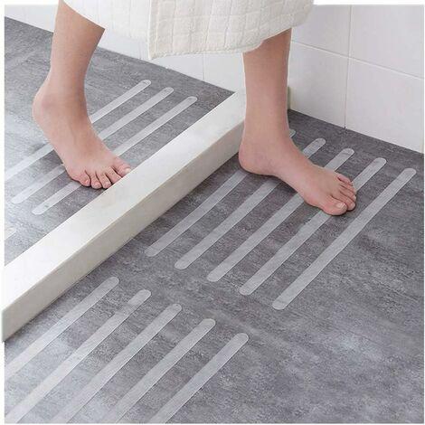 30 pièces d'autocollants antidérapants autocollants de douche ceintures de sécurité de salle de bain autocollants transparents auto-adhésifs antidérapants pour baignoire