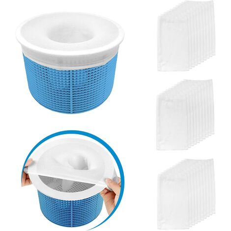 30 Pieces Pool Skimmer Socks, Perfect Filter Savers Pool Skimmer Socks for Filter Skimmer Basket, Ultra Fine Mesh Screen Liner for Pool Basket