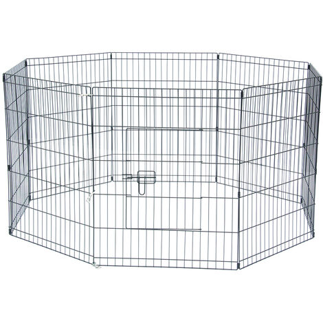 "30"" Tall Wire Fence Pet Dog Cat Folding Exercise Yard 8 Panel Metal Play Pen"