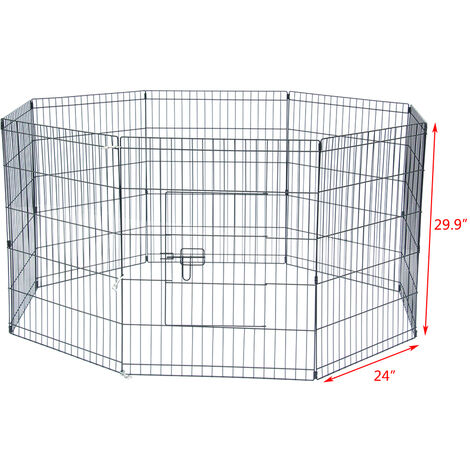 "30"" Tall Wire Fence Pet Dog Cat Folding Exercise Yard 8 Panel Metal Play Pen WQ694-30"