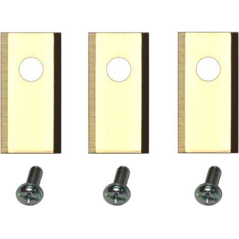 30 Titan Ersatz Messer Klingen kompatibel für Worx Landroid ® (1-Loch HQ 2019 - longlife - 1,0 mm) + Schrauben [DIN EN 50636 geprüft]