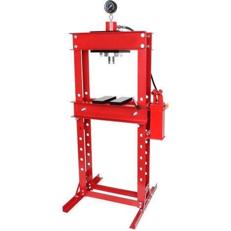 30 Tons Hydraulic Workshop Press with manometer (2x Press Plates, 820 mm Working Height, 530 mm Working Width, 8-way adjustable)