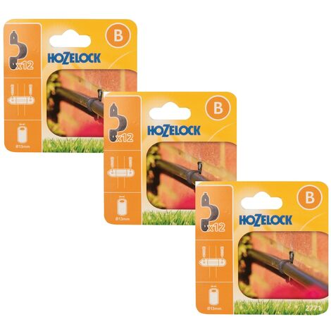 30 x Hozelock 2771 Supply Hose Clip 13mm Micro Irrigation Automatic Watering