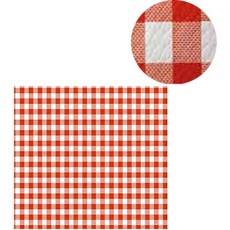 300 Manteles individuales 100x100 cm Cuadros rojo