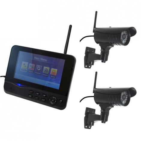 300 metre Wireless CCTV & 2 x 20 metre Night Vision External Cameras [002-1730]