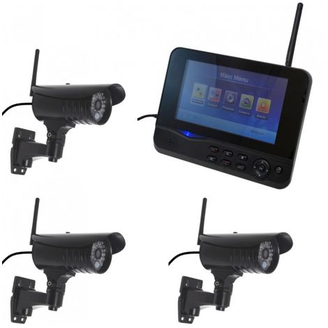 300 metre Wireless CCTV & 3 x 20 metre Night Vision External Cameras [002-1740]