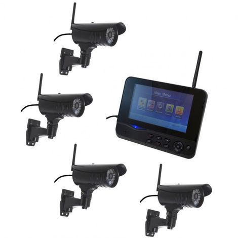 300 metre Wireless CCTV & 4 x 20 metre Night Vision External Cameras [002-1750]