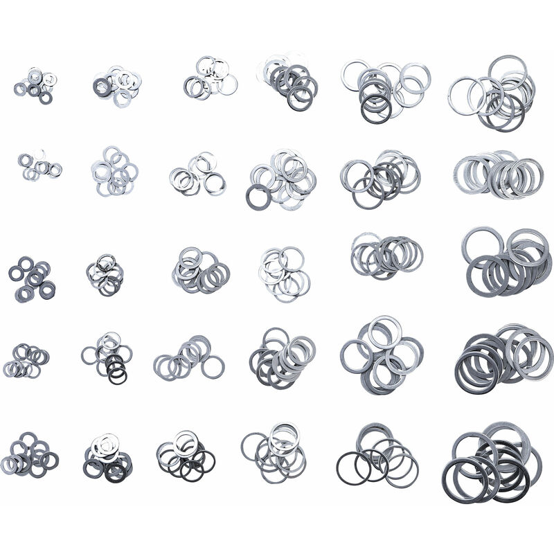 300-tlg.ALU Dichtring Sortiment Aluminium Dichtung Satz Dichtungsring O-Ring Set