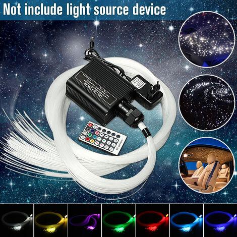 300 Unids LED Fibra Óptica DIY Light Star Kit de Techo Luces 0.75mm * 2m Fibra Óptica Motor Iluminación Lámpara Colgante Colgante para Decoración de Boda en Casa