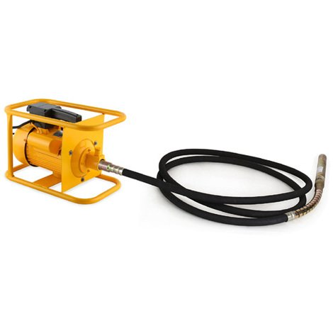 3000W Electric Concrete Vibrator (Robust Motor, 60 mm Steel-reinforced Poker, 10 m Hose Length, Handle, Sturdy Frame)