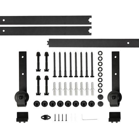 300CM Schiebetürsystem Set Schiebetürbeschlag Zubehörteil für Holztüren/Glastüren