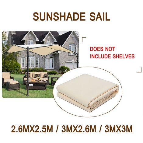 300D étanche pare-soleil écran Camping auvent tente Gazebo ombre voile abri auvent jardin (3X3m)