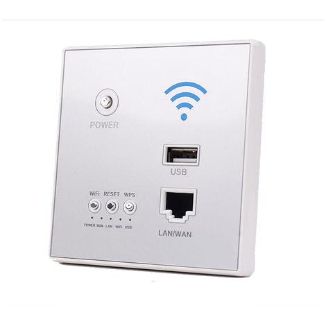 300Mbps Power AP Relay Repetidor inalambrico WIFI Extender, con conector USB,Gris